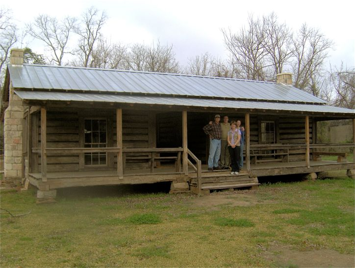 Newly restored Mathews family cabin, now located at the Clarke County Historical Museum, Grove Hill AL